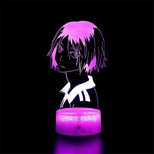 Sleeplite luz nocturna para niños Haikyuu C 16 colores cambio automático interruptor táctil escritorio cumpleaños regalo con control remoto