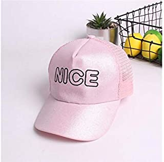 Baby Decoration Hat Hello Rabbit Ears Children Mesh Cap Kids Sun Protection Baseball Cap Sun Visor for 6-24 Months(Blue) Cute Cap (Color : Pink, Size : 48-52cm)
