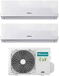 Hisense - Aparato de aire acondicionado/climatizador Dual Split Inverter Comfort 9000+9000 9+9 Btu A++ AMW2-16U4SZD1