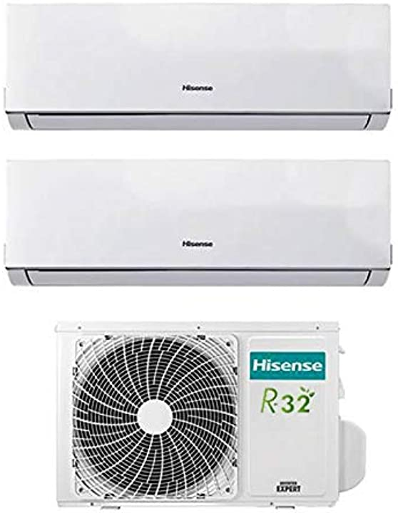 Climatizzatore condizionatore inverter hisense new comfort dual split 9000+12000 9+12 btu 2amw42u4rra r-32 a++ B076BDNPD1