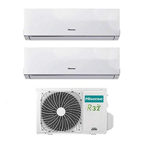 Condizionatore Climatizzatore Inverter Hisense New Comfort Dual Split 7000+12000 7+12 Btu 2AMW42U4RRA R-32 A++