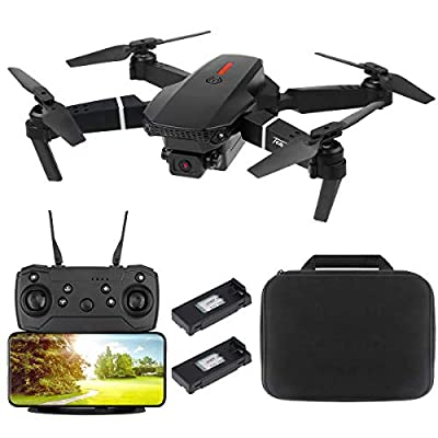 FPV WiFi Drone with 4K Camera, Wide Angle Dual 4K Camera Foldable Drone RC Quadcopter with Optical Flow Positioning Altitude Hold Headless Mode Follow Me APP Control Gesture Control Gravity Sensor