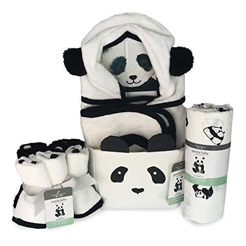 Panda Baby Rayon Viscose Bamboo Comfort Essentials - 10 pc Gift Basket - Gender Neutral