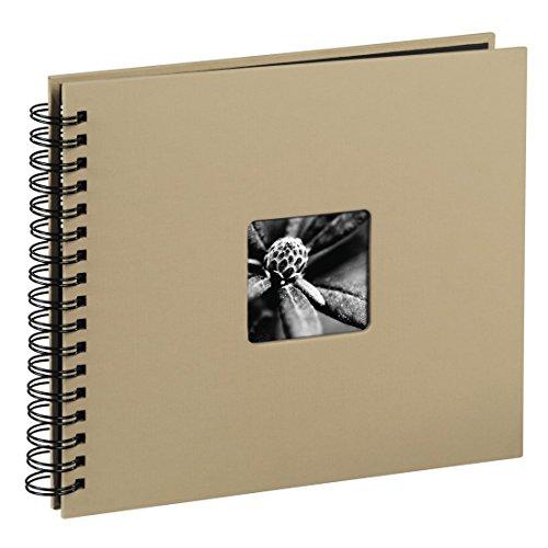 Hama 113681 - Álbum de fotos (50 páginas negras, álbum con espiral, compartimento para insertar foto) 28 x 24 cm, color beige