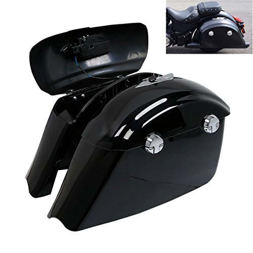 Best Deals! TCMT Saddle Bag W/Electronic Latch Fits For Indian Chieftain 2014-2017 Roadmaster 2015-2...