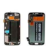 JOEMEL Parts LCD Display Digitizer Touch Screen Assembly with Frame for Samsung Galaxy S6 Edge G925 G925F G925I OLED LCD 5.1'' with Free Tempered Glass (Black)