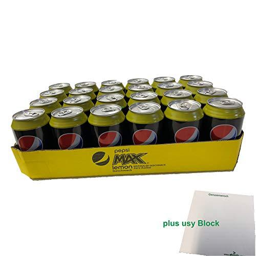 Pepsi MAX lemon ZERO SUGAR (24x0,33l) Tray + usy Block