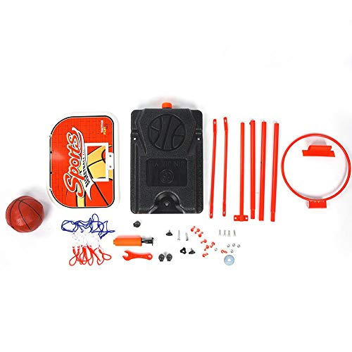 Plyisty Basketball Goal Toy, Verstellbarer Basketballkorb, einfach zu installierende Eisenkinder für im Home Office-Schlafzimmer