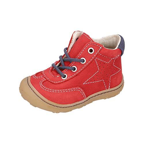 RICOSTA Unisex - Kinder Stiefel SAMI von Pepino, Weite: Mittel (WMS), Kleinkinder Kinder-Schuhe Spielen detailreich,Rubino,23 EU / 6 Child UK