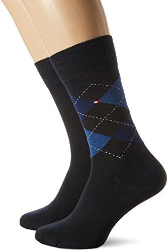 Tommy Hilfiger Herren TH Men Sock Check 2P, 2er Pack, Blau (Tommy Blue 054), 47/49