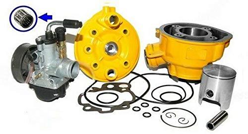 Unbranded. 70ccm Racing Zylinder VERGASER KIT Set für Yamaha DT 50 R X SM TZR 50 GELB Zylinderkit