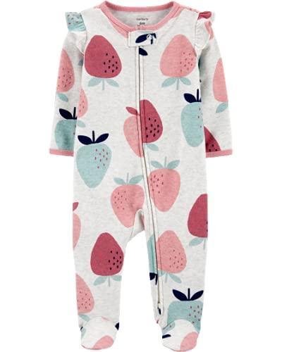 Pijama Macacão Bebê Menina Carter's Algodão Moranguinho