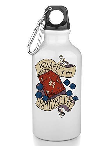 NoMoreFamous Beware of Smiling Dm Dungeon Master Freie Trinkflasche Wasserflasche Sport Camping Tourist Water Bottle