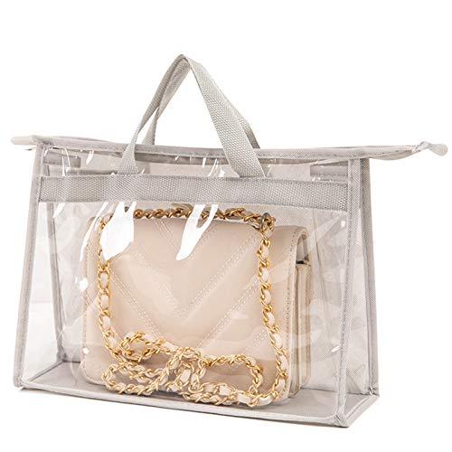 Lfhing Cartera portátil transparente para mujer, bolsa de almacenamiento con cremallera para protección contra el polvo y viajes