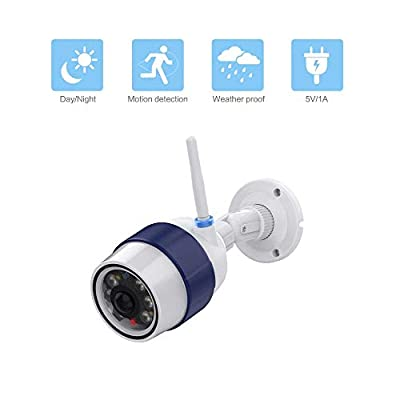 Night Watch Security 1 Pack Bullet Dummy Fake Surveillance Camera with Motion Sensor LED Security Light (Indoor and Outdoor)