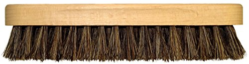 DELARA Große Glanzbürste aus Holz mit Griffkehlen; weiche, hochwertige Rosshaar-Borsten; Farbe: Braun