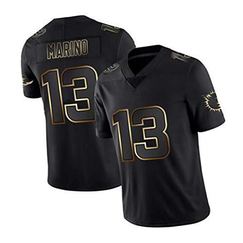 Márríǒ Rugby Jersey 13# American Football Shirt Jersey Training T-Shirts, Camisetas de fútbol para Hombre Top Uniformes Black-L