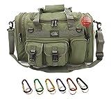 Nexpak TF118ODGN Olive Drab Green Waterproof Duffel Duffle Bag Tactical Military Range Molle Outdoor Travel + Key Ring Carabiner