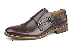 Twin adjustable buckles Leather lining and socks Quality leather look uppers Resin sole High fashion