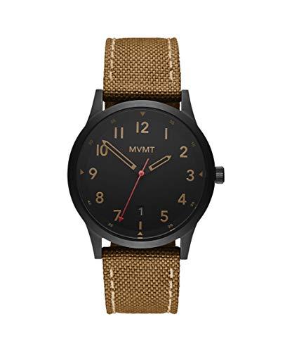 MVMT Herren Analog Quarz Uhr mit Segeltuch Armband 28000017-D