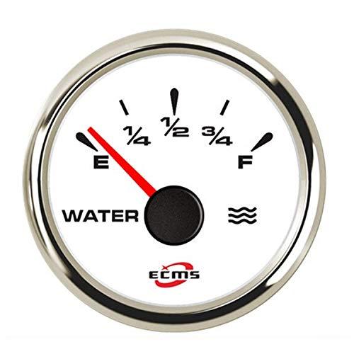 YIONGA Panel de Instrumentos CAIJINJIN Indicador del medidor de luz de Fondo Universal múltiple 52mm Medidor de Nivel de Agua for el Coche del Carro del Barco Automotor
