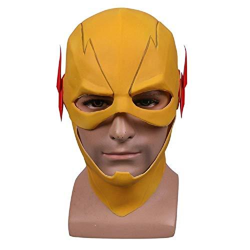 XWYZY Mscara de Halloween Mscara Cosplay Disfraz Prop Halloween Amarillo Cabeza Completa Mascarillas de fiesta Adulto Flash