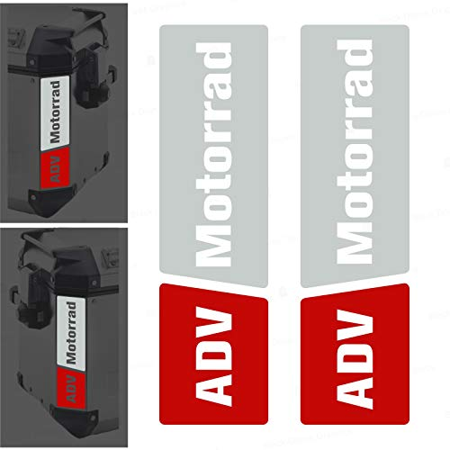 2 adhesivos reflectantes compatibles con maletas laterales Givi Trekker Outback 37L 48L (blanco-rojo)