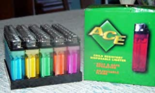 250 Disposable Lighters, Wholesale Lot, Sold As FIVE 50 Lighter Display Trays.