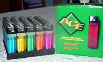 250 Disposable Lighters Wholesale Lot Sold As FIVE 50 Lighter Display Trays.