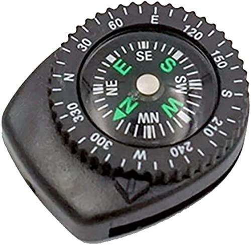 Qjkmgd Mini Pulsera Brújula portátil Portátil Desmontable Reloj Resbalón Senderismo Senderismo Viaje Viajes Viajes de Emergencia Supervivencia Herramienta de navegación