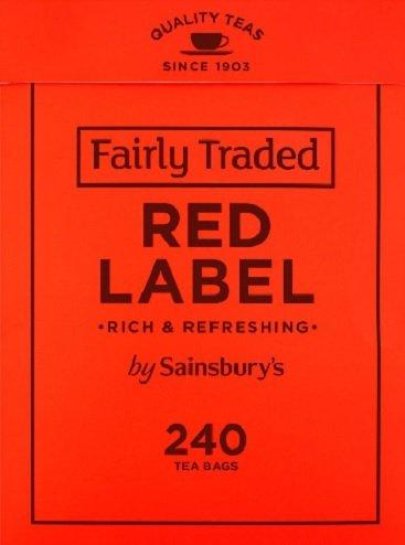 Sainsbury's Red Label Tea, Fairtrade 240 Btl. 750g
