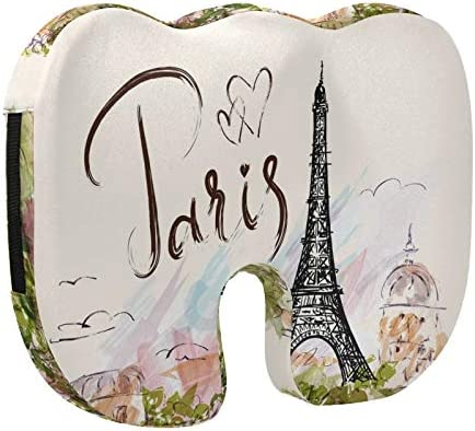 Qilmy Eiffel Tower Memory Seat Max 71% OFF Ranking TOP6 Cover Cushion W Removable Stretch