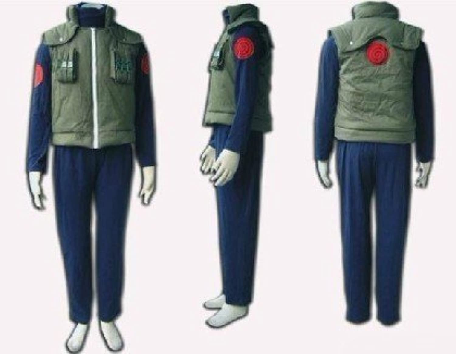 Sunkee Naruto Hatake Kakashi vest cosplay costume (Men  Small)