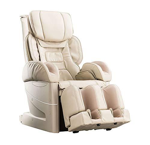 Fujiiryoki Cyber Relax EC-3900 Luxus Massage Sessel Ganzkörper Massage Luft-Massage-System Schwarz/Weiß 4D-Massage (Weiß)