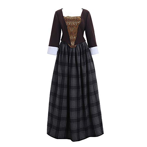 Women's Scottish Highland Dress Claire Fraser Cosplay Costume