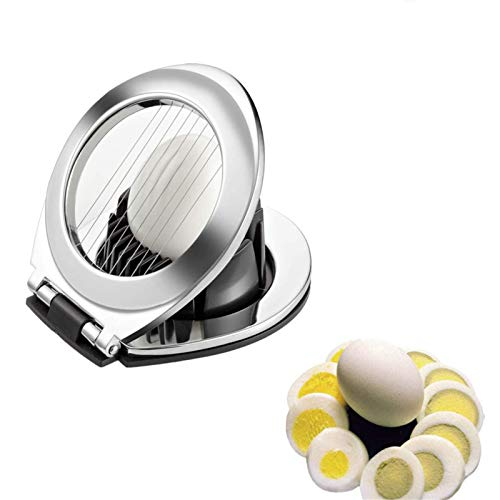 Comius Sharp Cortador de Huevos, Cortador de Huevos de Acero Inoxidable con Soporte de Aleación de Zinc Resistente para Cortar Huevos, Ensaladas, Sándwiches