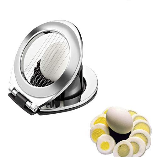 Comius Sharp Eierschneider aus Rostfreier Edelstahl 2 in 1 Scheiben Metal Eierschneider, für Ei Sandwich und Salat Küchenwerkzeug