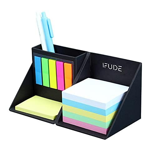 多機能付箋ボックス メモ用紙 卓上 付箋 ふせん ケース ペンホルダ PET透明付箋 折りたたんだり