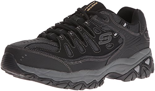 Skechers Men's AFTER BURN M.FIT Memory Foam Lace-Up Sneaker, Black, 11 4E US