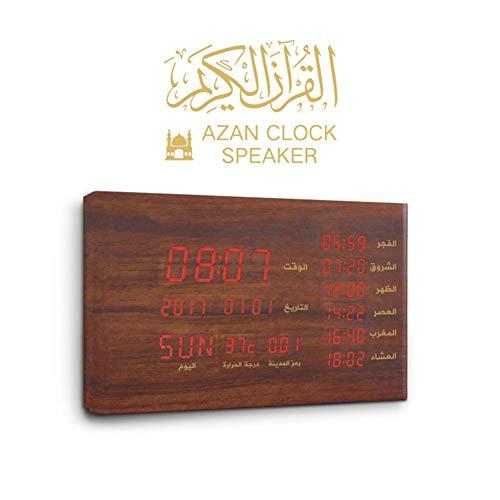 Bluetooth-Lautsprecher Muslim Gift-Quran Player Koran-Lautsprecher-Wecker-Holz-Gebetsuhr mit...