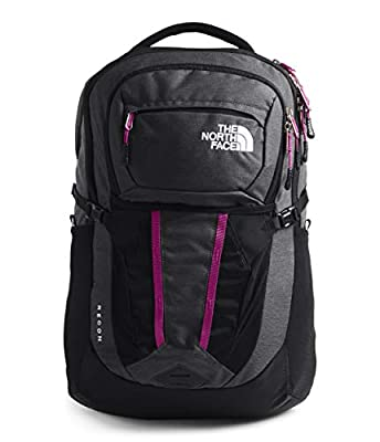 The North Face Women's Recon Backpack, Asphalt Grey Light Heather/Wild Aster Purple, One Size