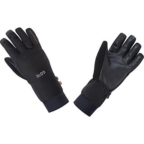 GORE Wear Guantes cortavientos unisex, M GORE WINDSTOPPER Insulated Gloves, Talla: 9, Color: Negro, 100386
