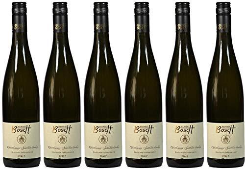 6x Bacchus lieblich 2018 - Weingut Bosch, Pfalz - Weißwein