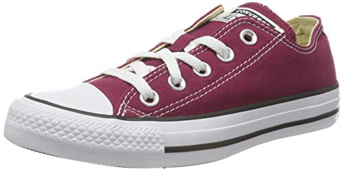 Converse Chuck Taylor All Star Season Ox, Zapatillas de Tela Unisex Adulto, Rojo, 46 EU
