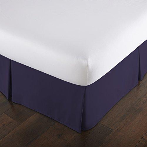 Southshore Fine Linens VILANO Springs - Faldón para cama plisado, caída de 38 cm