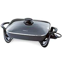 Made in China Deluxe nonstick surface, inside & out, for stick-free cooking & easy cleaning Doubles as a handy buffet server when entertaining Saves energy more efficient than using a range burner or oven Fully immersible & dishwasher safe with the h...