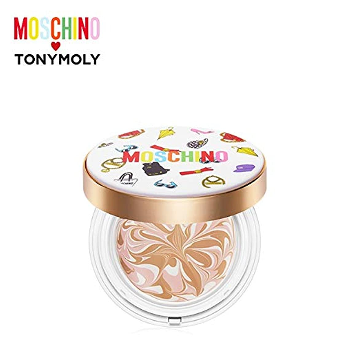 数字アルファベット波紋トニーモリー [モスキーノ] シック スキン エッセンス パクト 18g TONYMOLY [MOSCHINO] Chic Skin Essence Pact #01 CHIC VANILLA [並行輸入品]
