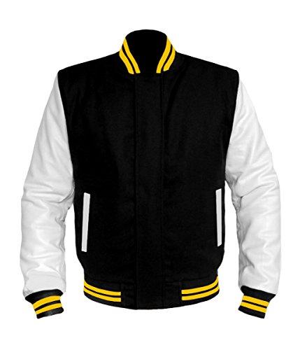 W Genuine Leather Sleeve Letterman College Varsity Women Wool Jackets BSL-BS-LE