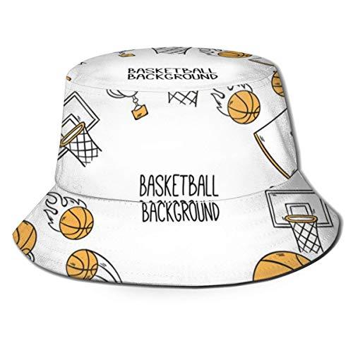 Sonnenhaube für Sommer und Winter, für Jagd und Angeln, neutrale Fassabdeckung, handgezeichnete Basketballelemente, Hintergrund