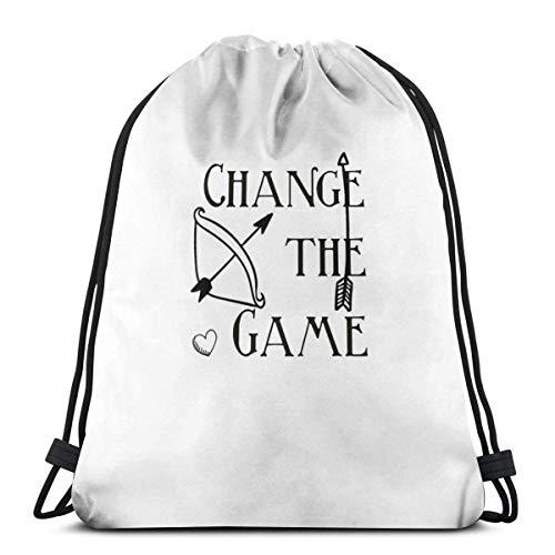 shenguang Change The Game, The Hunger Games Bolsa con cordón Bolsa Deportiva Bolsa de Viaje Bolsa de Regalo Bolsa de Regalo